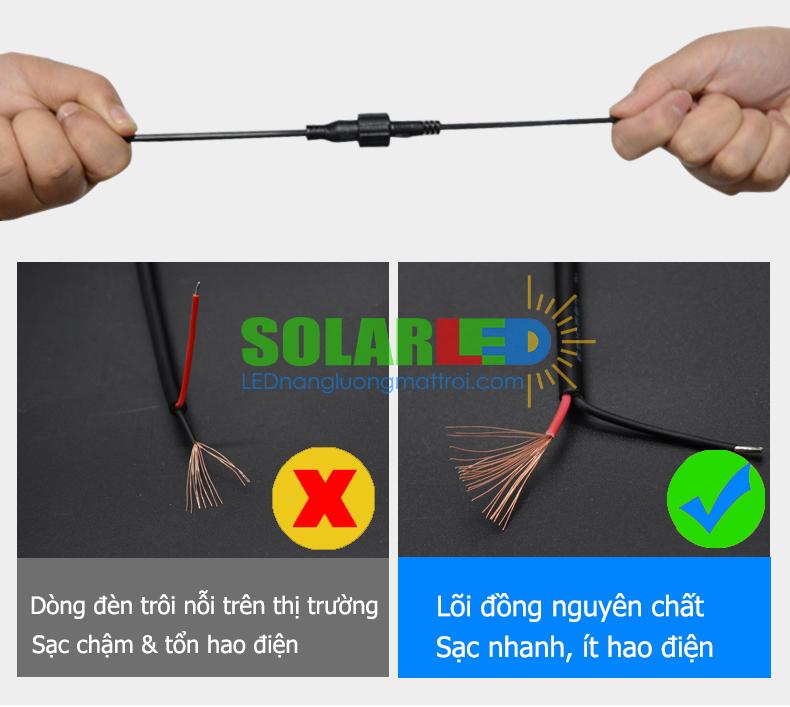 Cáp sạc đèn năng lượng mặt trời 60W